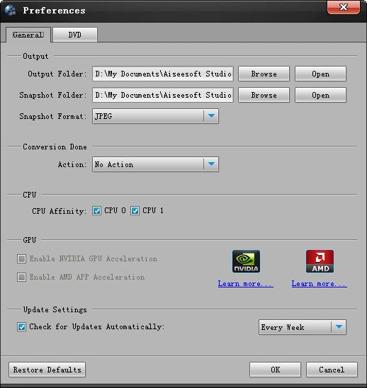 Aiseesoft Blu-ray to iPad Ripper, Video Software Screenshot