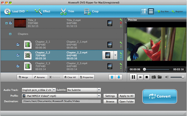 Aiseesoft DVD Ripper, DVD Ripper Software Screenshot