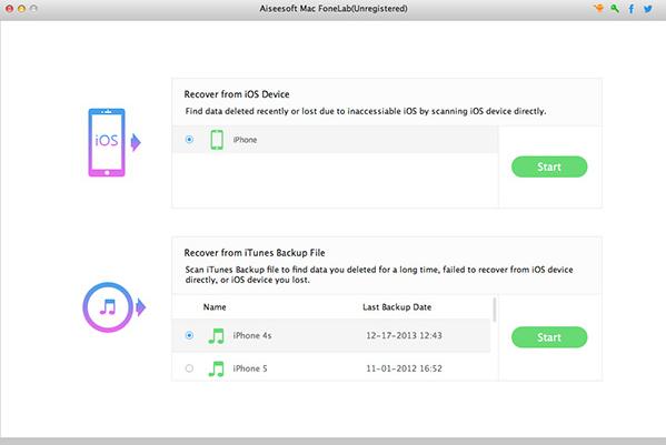 Aiseesoft Mac FoneLab Screenshot