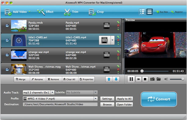 Aiseesoft MP4 Video Converter, Video Software Screenshot