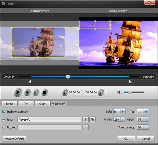 Video Converter Software, Aiseesoft MXF Converter Screenshot