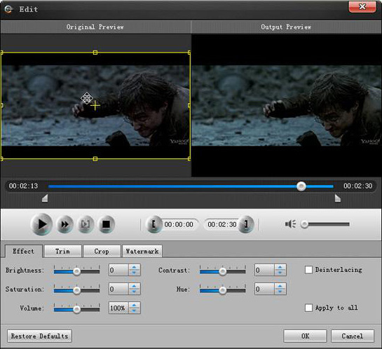 Aiseesoft MXF Converter, Video Software Screenshot