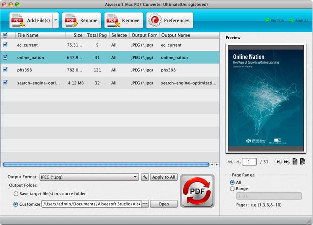 Aiseesoft PDF Converter Ultimate, Business & Finance Software Screenshot