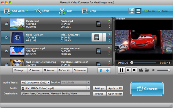 Video Converter Software, Aiseesoft Total Video Converter Screenshot