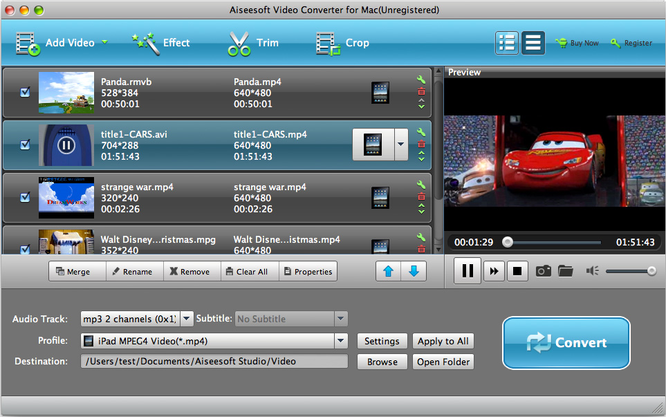 Aiseesoft Video Converter for Mac Screenshot
