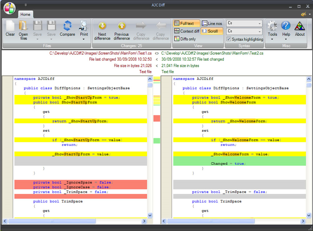 Security Software, AJC Sync Screenshot