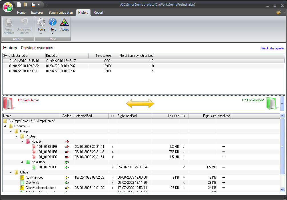 AJC Sync, Security Software Screenshot