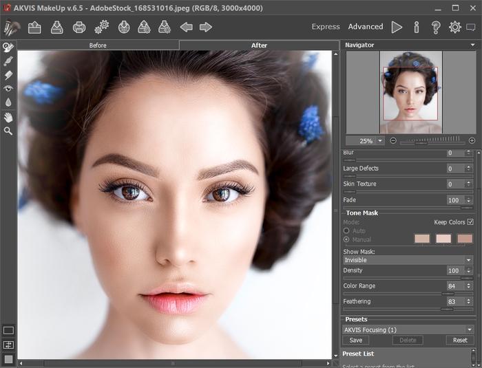 AKVIS MakeUp Screenshot