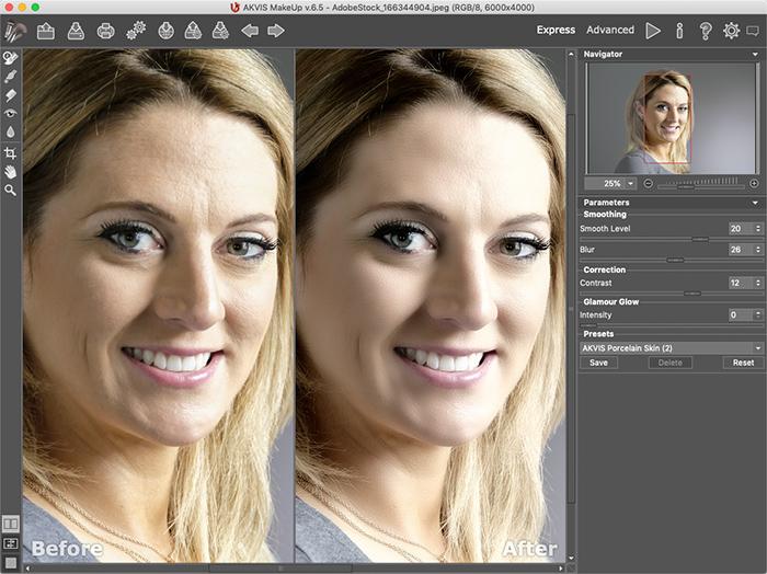 AKVIS MakeUp, Design, Photo & Graphics Software Screenshot