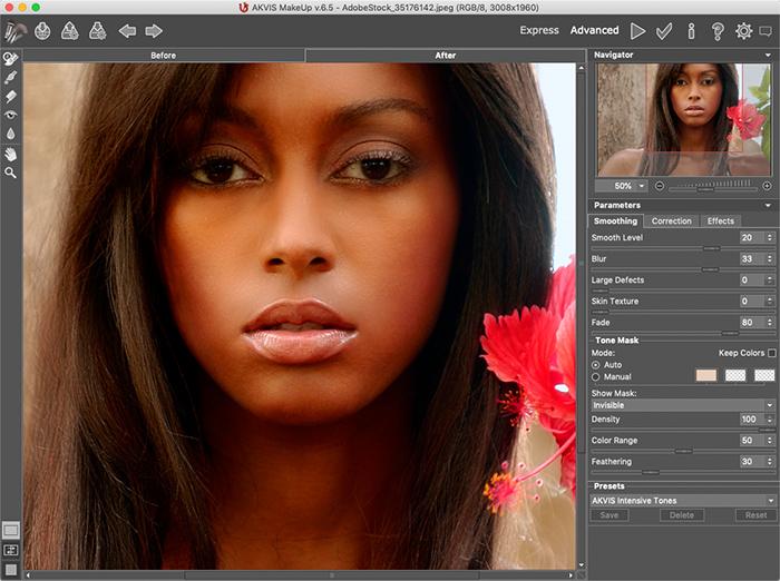 AKVIS MakeUp, Photo Editing Software Screenshot
