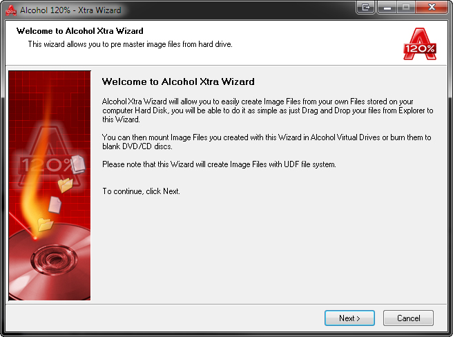 Alcohol 120%, Software Utilities Screenshot