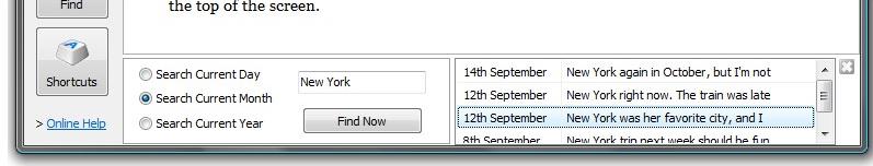 Organization Software, All My Journals Screenshot