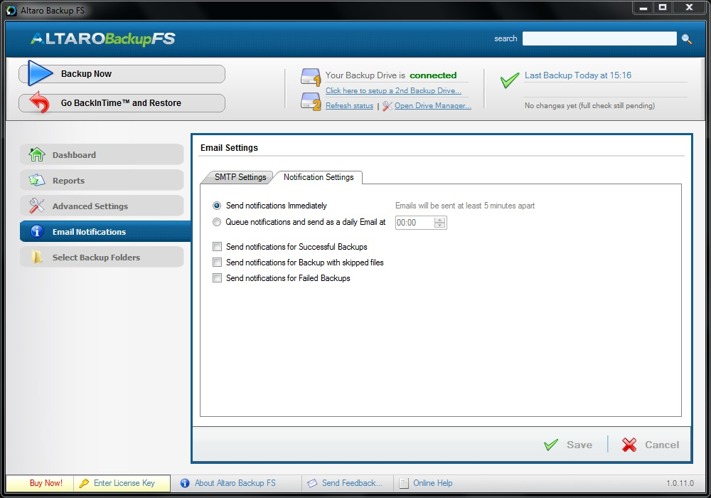 Backup Files Software, Altaro Backup FS Screenshot
