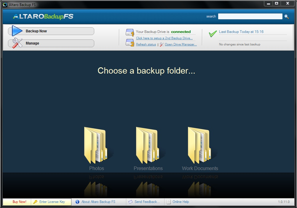 Backup Files Software Screenshot