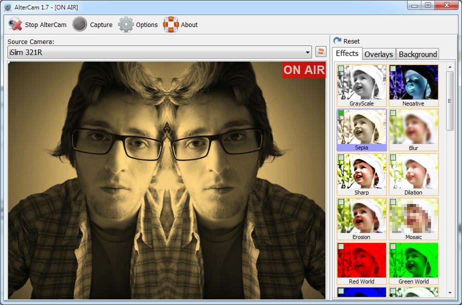 AlterCam, Online Video Software Screenshot