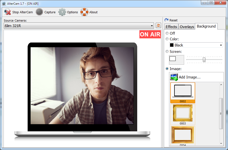 AlterCam, Video Software Screenshot