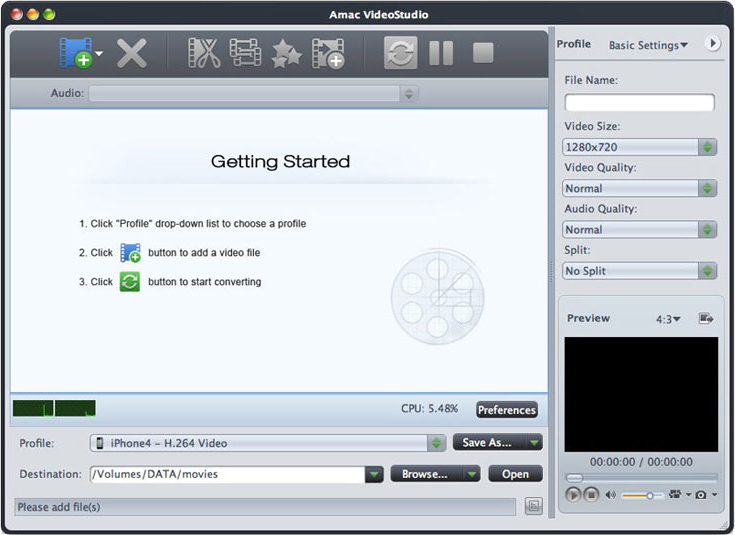Amac VideoStudio Screenshot