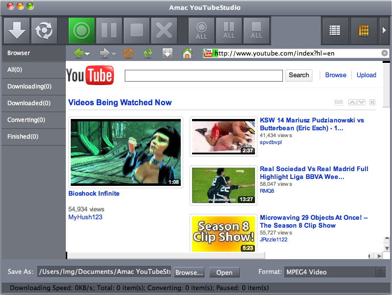 Amac YouTubeStudio Screenshot
