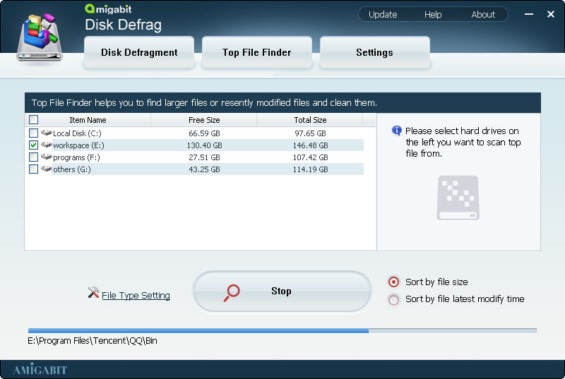 Amigabit Disk Defrag, Software Utilities Screenshot