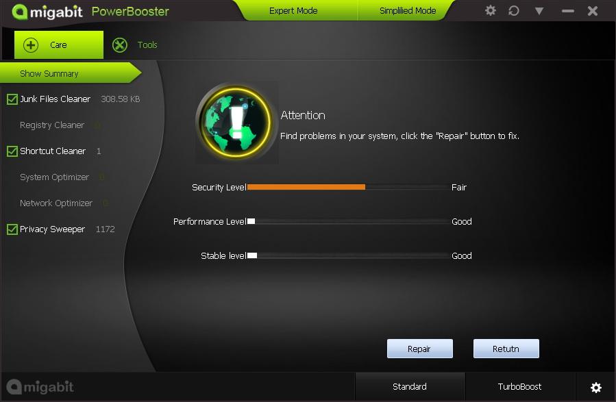 System Tweaker Software, Amigabit PowerBooster Screenshot