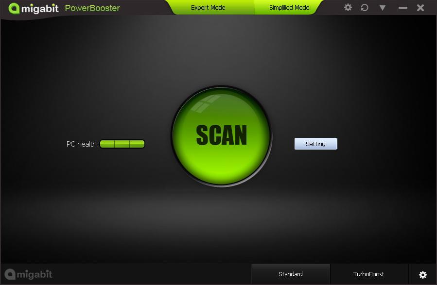 Amigabit PowerBooster, System Tweaker Software Screenshot