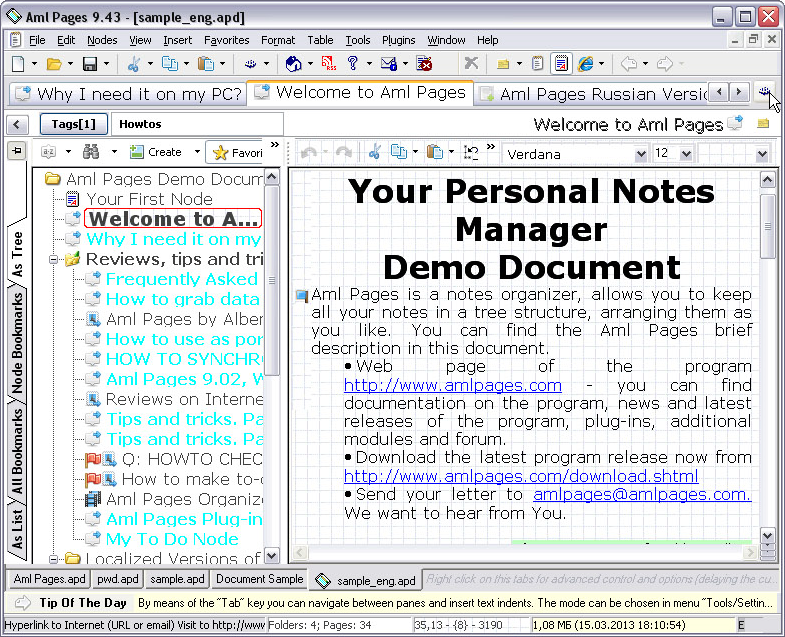 Aml Pages Home License Screenshot