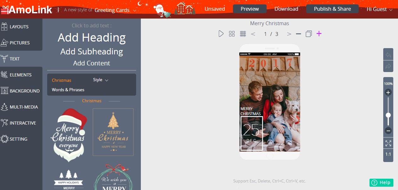 AmoLink Mobile Content Creator, Design, Photo & Graphics Software Screenshot