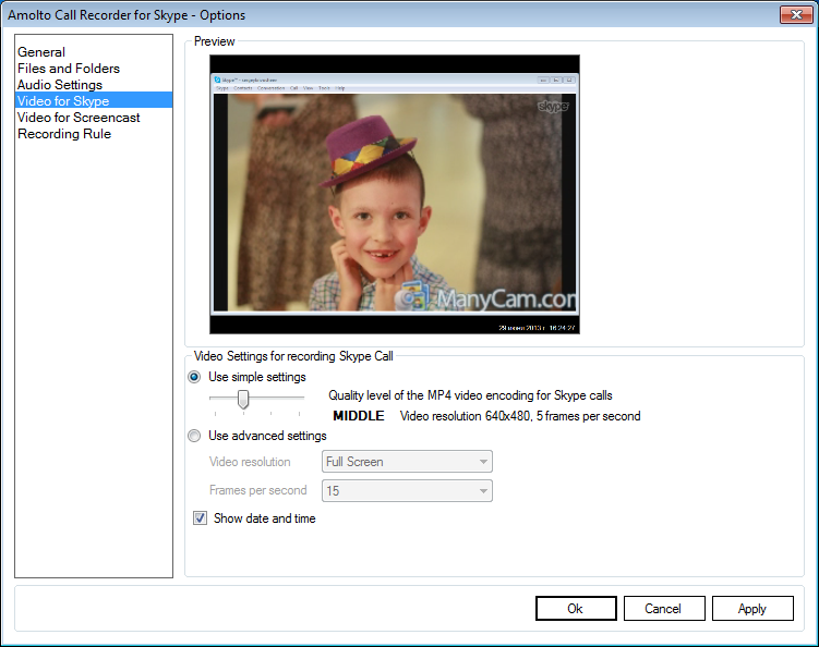 Video Software, Amolto Call Recorder Premium for Skype & Teams Screenshot