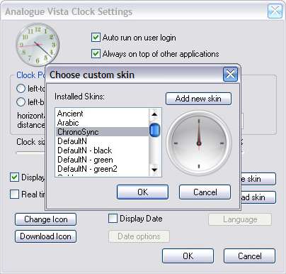 Clock Software Screenshot