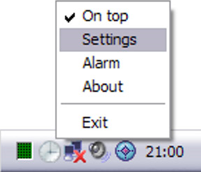 Analogue Vista Clock, Desktop Customization Software Screenshot