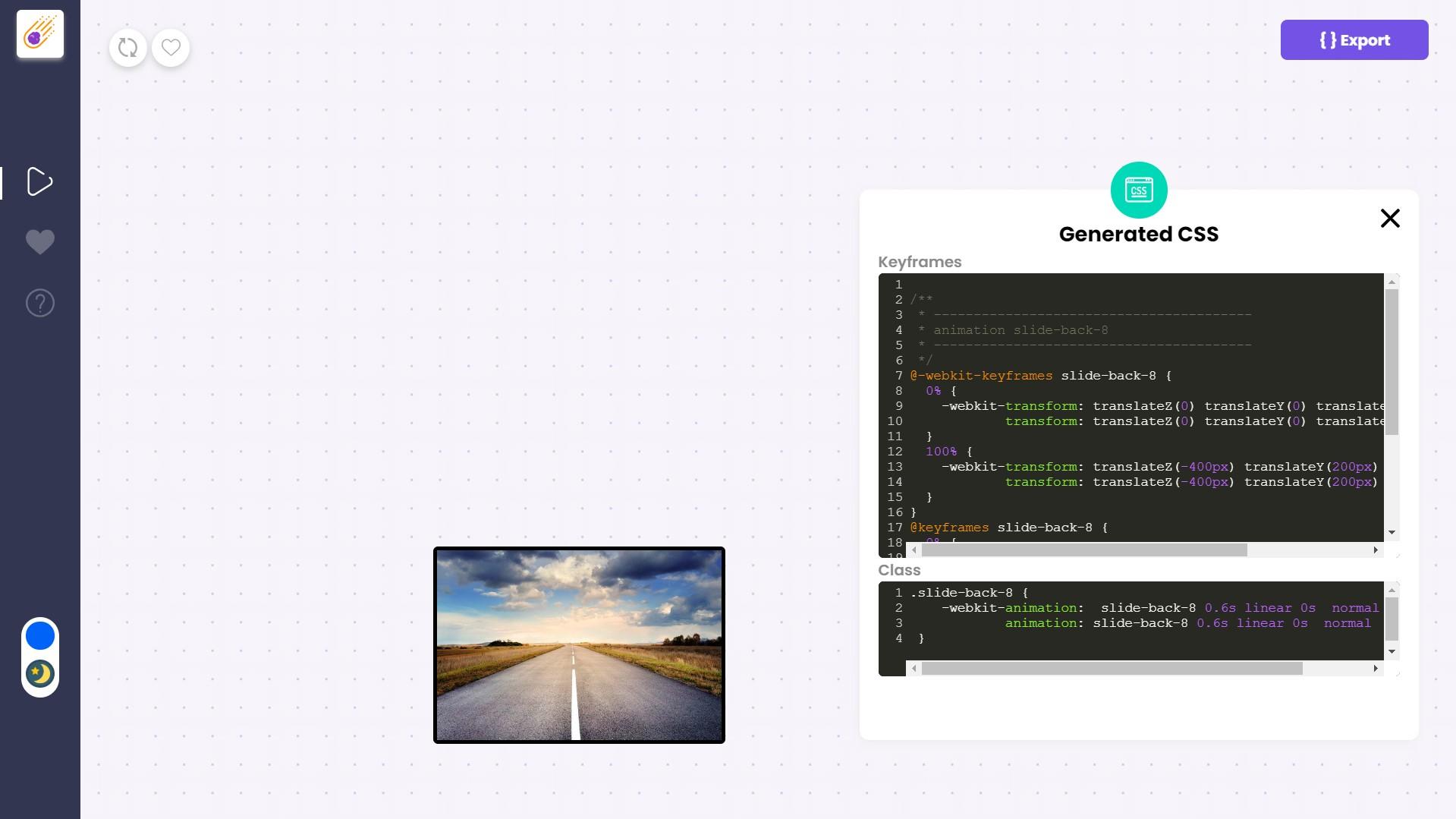 Web Development Software, Animatorify - CSS Animation Creator Screenshot