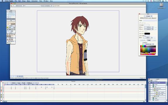 Anime Studio 5, Animation Software Screenshot