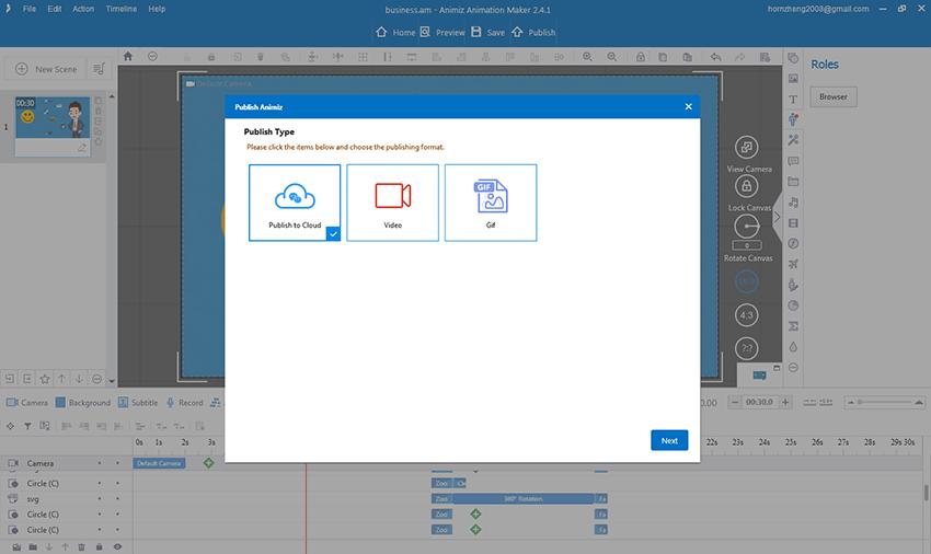 Animiz Animation Video Presentation Software, Video Editing Software Screenshot
