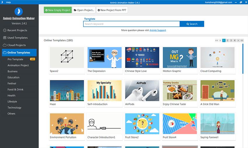 Animiz Animation Video Presentation Software, Video Software Screenshot