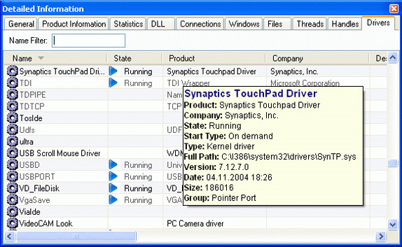 General Security Software, AnVir Security Suite Screenshot