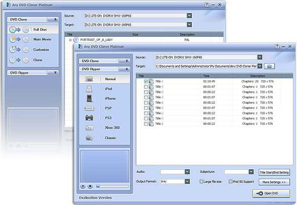 Any DVD Cloner Platinum Screenshot