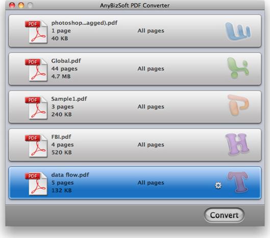 AnyBizSoft PDF Converter Screenshot