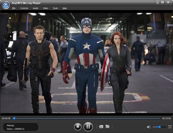 AnyMP4 Blu-ray Player, Video Software Screenshot
