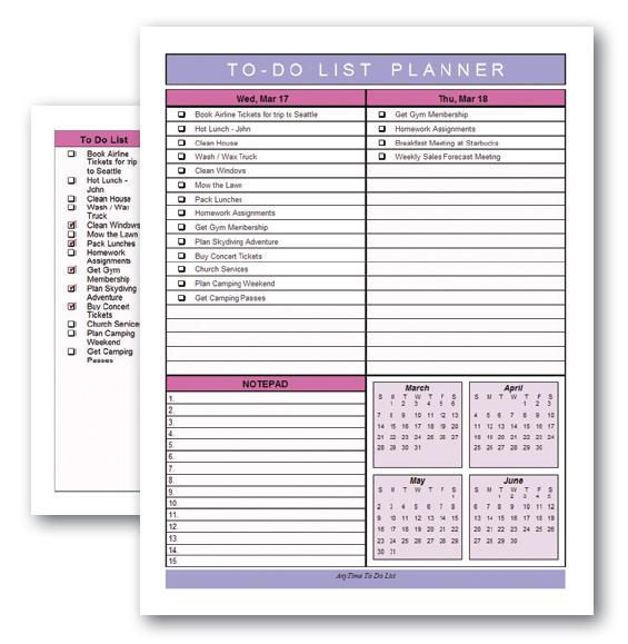 AnyTime Organizer 16 Standard, Productivity Software Screenshot