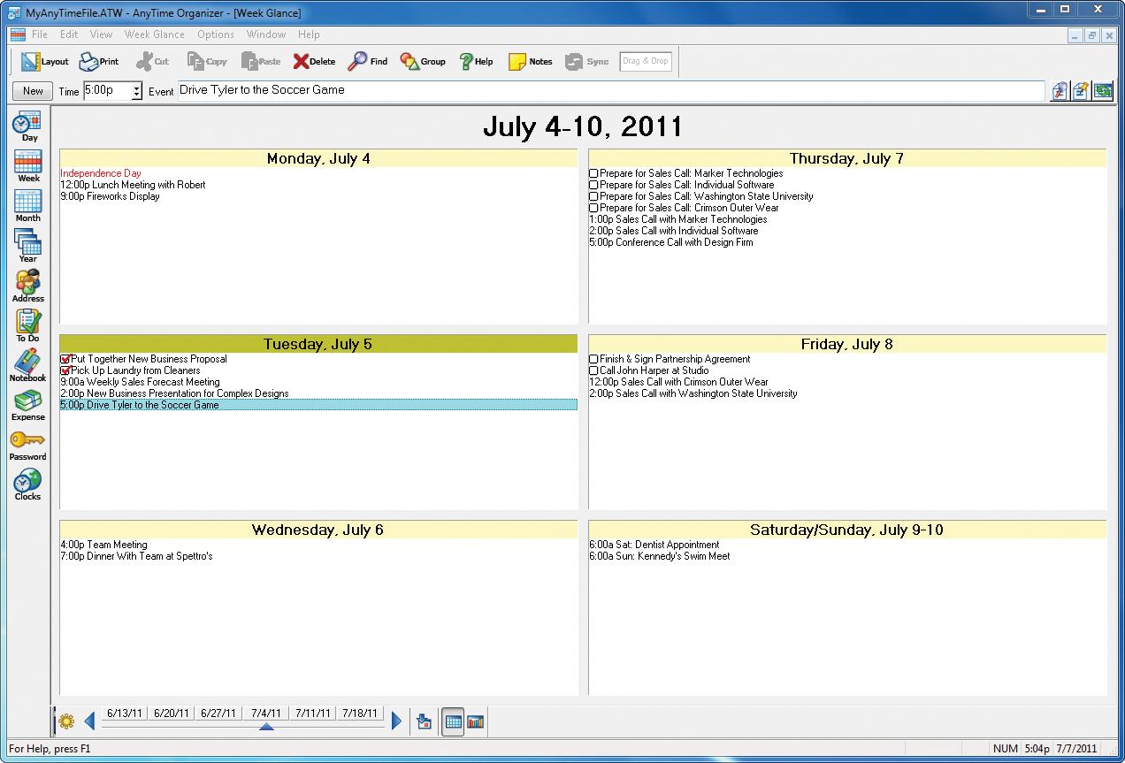 AnyTime Organizer 15 Standard Screenshot 8