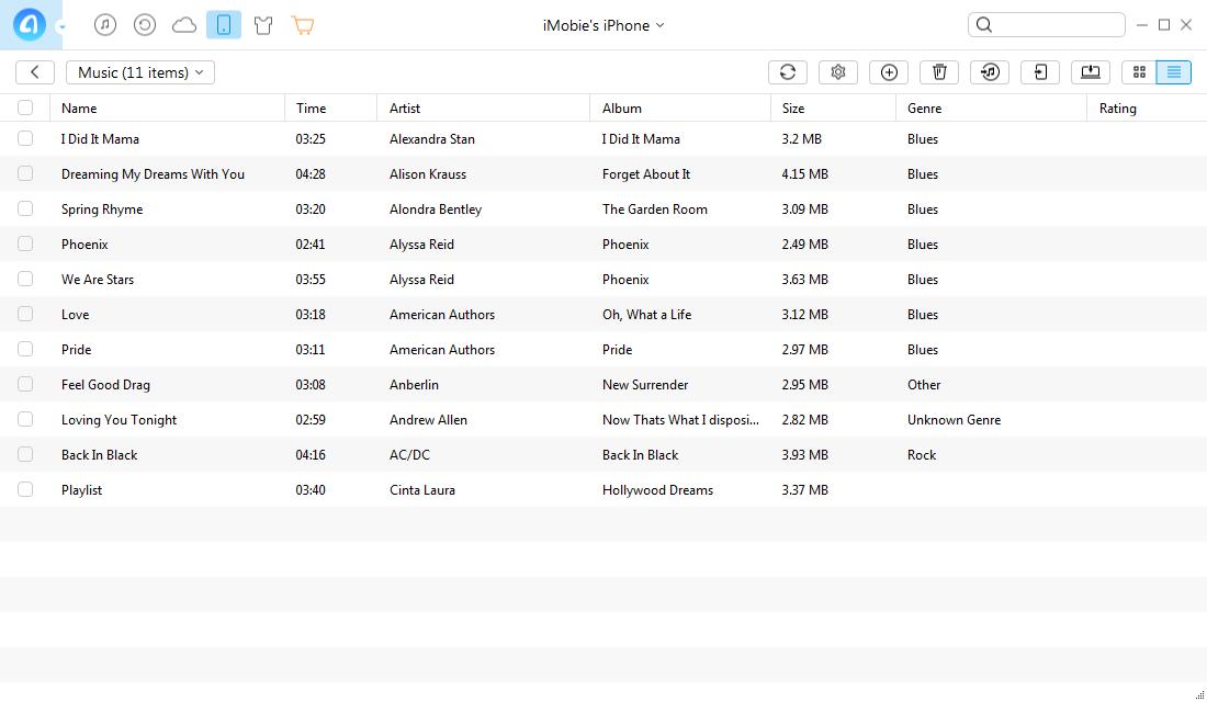 Audio Software, AnyTrans Screenshot