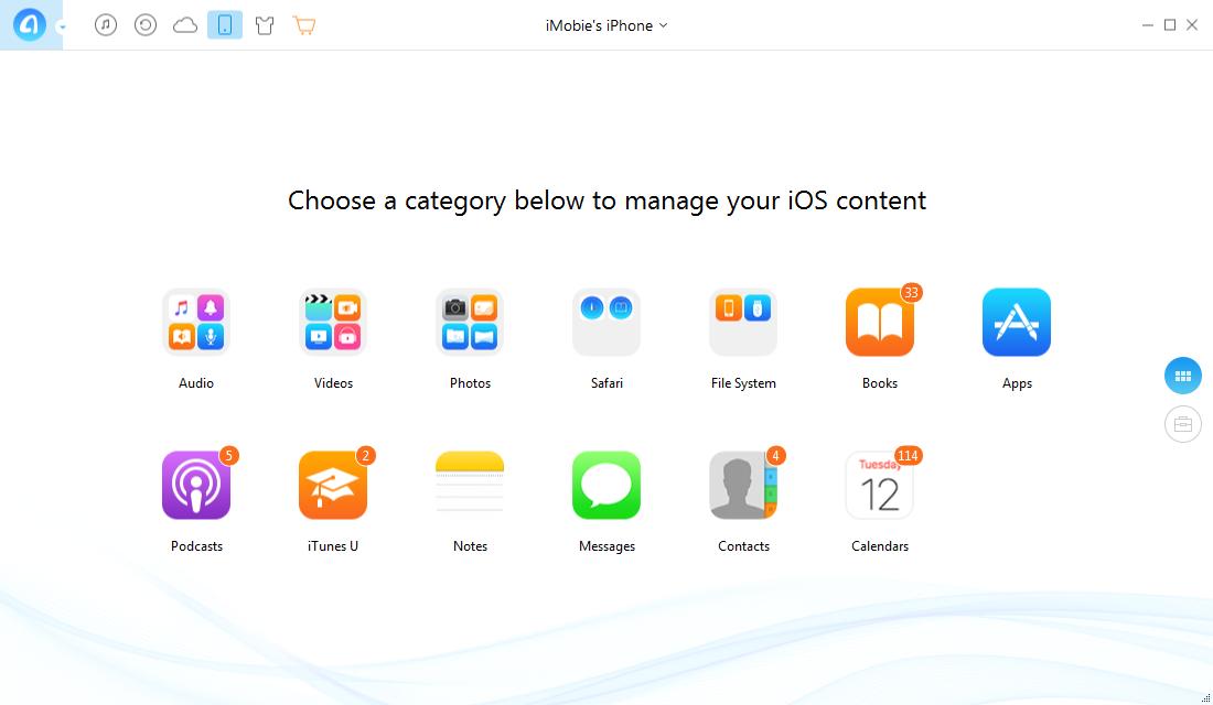 AnyTrans, iPod iPhone iTunes Software Screenshot