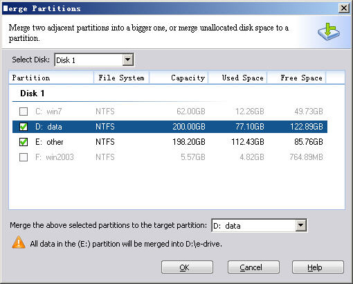 Hard Drive Software, AOMEI Partition Assistant Professional Edition Screenshot