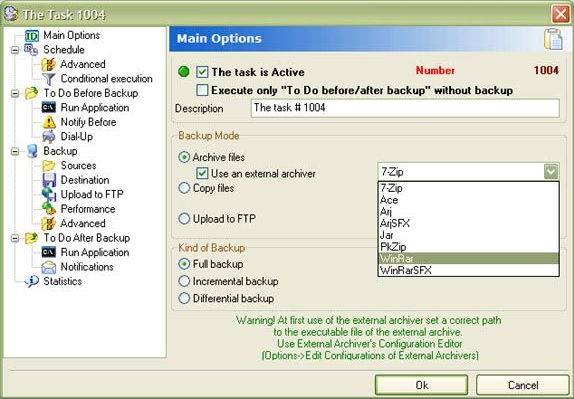 APBackup, Security Software Screenshot