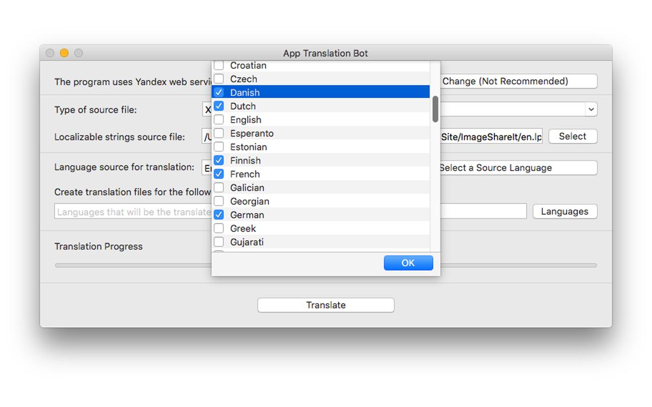 App Translation Bot Screenshot