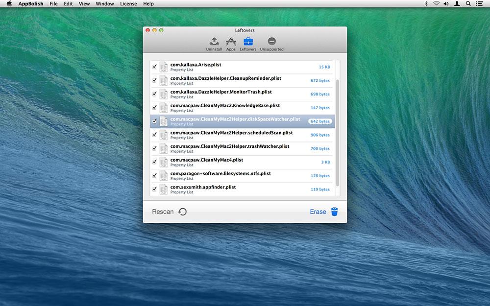 AppBolish, Network Connectivity Software Screenshot