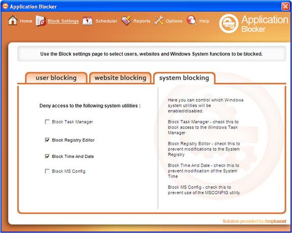 Application Blocker Pro, Access Restriction Software Screenshot