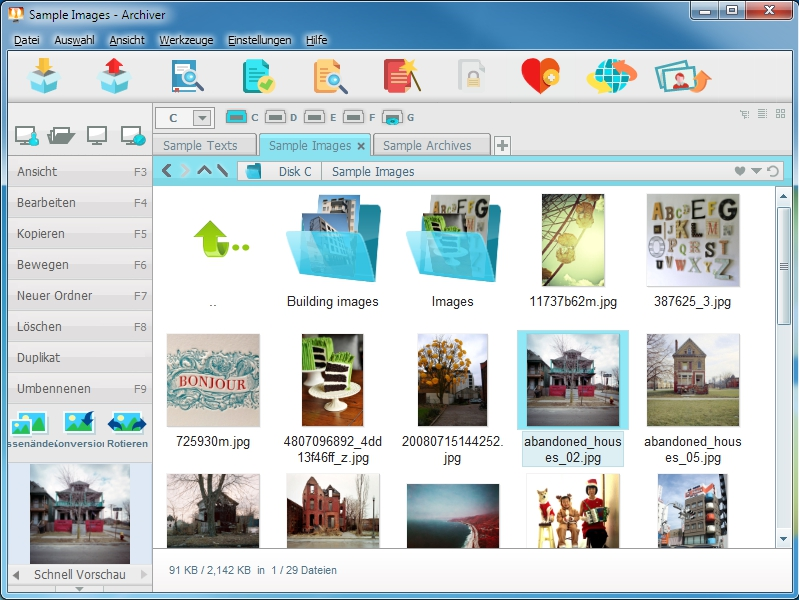 Archiver Screenshot
