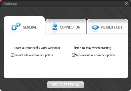 Arovax SmartHide, Network Software Screenshot