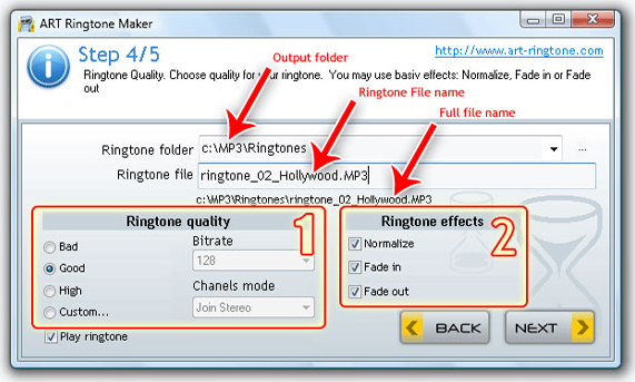 ART Ringtone Maker, Ringtone Maker Software Screenshot